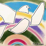 Pablo Picasso (1881-1973) Period of creation: 1943-1961 - 1952 Colombe volante (Е lArc-en-ciel)