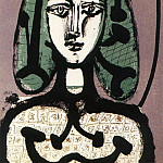 Pablo Picasso (1881-1973) Period of creation: 1943-1961 - 1949 Femme aux cheveux verts II
