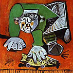 Pablo Picasso (1881-1973) Period of creation: 1943-1961 - 1950 Paloma sur fond rouge