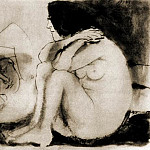 1943 Homme endormi et femme assise, Pablo Picasso (1881-1973) Period of creation: 1943-1961
