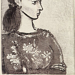 1958 Femme au corsage Е fleurs II, Pablo Picasso (1881-1973) Period of creation: 1943-1961