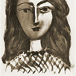 1949 TИte de jeune fille, Pablo Picasso (1881-1973) Period of creation: 1943-1961