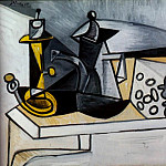 Pablo Picasso (1881-1973) Period of creation: 1943-1961 - 1943 Nature morte au gruyКre