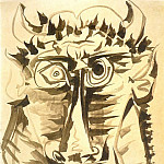 1958 TИte de minotaure, Pablo Picasso (1881-1973) Period of creation: 1943-1961