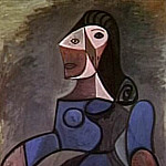 Pablo Picasso (1881-1973) Period of creation: 1943-1961 - 1944 Femme en bleu
