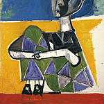 1954 Jacqueline assise, Pablo Picasso (1881-1973) Period of creation: 1943-1961