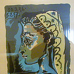 Pablo Picasso (1881-1973) Period of creation: 1943-1961 - 1956 TИte de femme- Profil