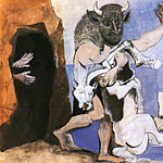 Pablo Picasso (1881-1973) Period of creation: 1943-1961 - 1953 minautor et jumant morte 1953