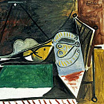 1960 Femme couchВe sous la lampe, Pablo Picasso (1881-1973) Period of creation: 1943-1961