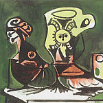 1959 Mandoline, cruche et verre I, Pablo Picasso (1881-1973) Period of creation: 1943-1961