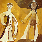 1958 Deux personnages debout, Pablo Picasso (1881-1973) Period of creation: 1943-1961