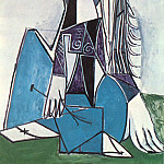 1954 Portrait de Sylvette David 05, Pablo Picasso (1881-1973) Period of creation: 1943-1961