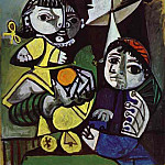 1951 FranЗoise, Claude et Paloma, Pablo Picasso (1881-1973) Period of creation: 1943-1961