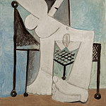 1958 Femme assise I, Pablo Picasso (1881-1973) Period of creation: 1943-1961