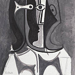 Pablo Picasso (1881-1973) Period of creation: 1943-1961 - 1960 Buste de femme III