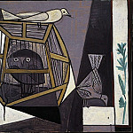 Pablo Picasso (1881-1973) Period of creation: 1943-1961 - 1947 Cage avec chouette