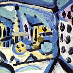 Pablo Picasso (1881-1973) Period of creation: 1943-1961 - 1945 Vue de Notre-Dame de Paris