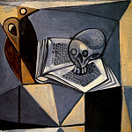 1946 TИte de mort et livre, Pablo Picasso (1881-1973) Period of creation: 1943-1961