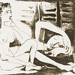 Pablo Picasso (1881-1973) Period of creation: 1943-1961 - 1947 La dormeuse
