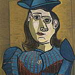 1960 Femme au chapeau bleu, Pablo Picasso (1881-1973) Period of creation: 1943-1961