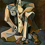 Pablo Picasso (1881-1973) Period of creation: 1943-1961 - 1953 Femme nue accroupie