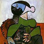 Pablo Picasso (1881-1973) Period of creation: 1943-1961 - 1953 Femme assise avec chien