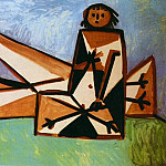 1956 Homme et femme sur la plage, Pablo Picasso (1881-1973) Period of creation: 1943-1961