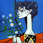 1954 Jacqueline aux fleurs, Pablo Picasso (1881-1973) Period of creation: 1943-1961