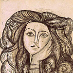 1946 Portrait de FranЗoise Gilot, Pablo Picasso (1881-1973) Period of creation: 1943-1961