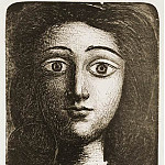 Pablo Picasso (1881-1973) Period of creation: 1943-1961 - 1945 TИte de jeune fille VI