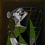Pablo Picasso (1881-1973) Period of creation: 1943-1961 - 1951 Femme au chignon assise