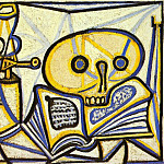 1946 crГne, livre et lampe Е pВtrole, Pablo Picasso (1881-1973) Period of creation: 1943-1961