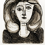 Pablo Picasso (1881-1973) Period of creation: 1943-1961 - 1945 TИte de jeune fille aux cheveux longs II