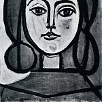 1946 TИte de femme, Pablo Picasso (1881-1973) Period of creation: 1943-1961
