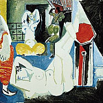 1955 Les femmes dAlger IX, Pablo Picasso (1881-1973) Period of creation: 1943-1961