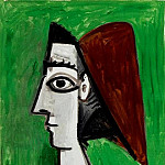 1960 Visage fВminin- profil, Pablo Picasso (1881-1973) Period of creation: 1943-1961
