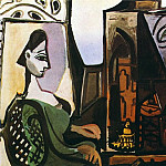 Pablo Picasso (1881-1973) Period of creation: 1943-1961 - 1956 Femme dans latelier (Jacqueline) III