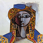 1955 Jacqueline Roque en costume turc, Pablo Picasso (1881-1973) Period of creation: 1943-1961
