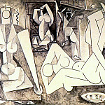 1955 Les femmes dAlger XIII, Pablo Picasso (1881-1973) Period of creation: 1943-1961