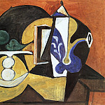 1947 Nature morte au compotier et Е la cafВtiКre, Pablo Picasso (1881-1973) Period of creation: 1943-1961