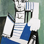 Pablo Picasso (1881-1973) Period of creation: 1943-1961 - 1956 Lhomme au maillot rayВ III