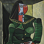 1944 femme en vert, Pablo Picasso (1881-1973) Period of creation: 1943-1961