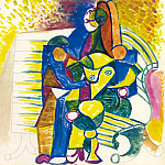 Pablo Picasso (1881-1973) Period of creation: 1943-1961 - 1943 Couple sur un banc R