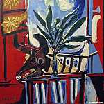 1958 Nature morte Е la tИte de taureau, Pablo Picasso (1881-1973) Period of creation: 1943-1961
