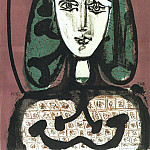 1949 Femme aux cheveux verts Il, Pablo Picasso (1881-1973) Period of creation: 1943-1961