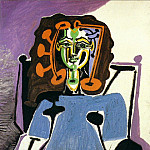 Pablo Picasso (1881-1973) Period of creation: 1943-1961 - 1949 FranЗoise assise en robe bleue