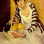 Peterson Jane Girl With Fruit, American artists