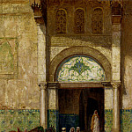 American artists - Millar Addison Thomas A Rest Outside A Mosque