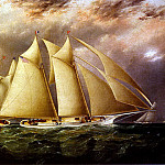American artists - Butterworth James E Yacht Alice Rounding The Buoy