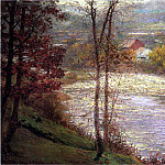 American artists - Adams John Ottis Morning on the Whitewater Brookille Indiana